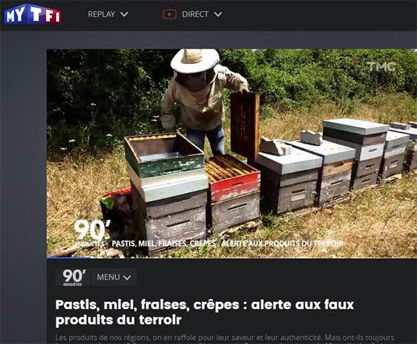 Reportage sur le miel authentique, 1ère diffusion sur TMC avril 2019